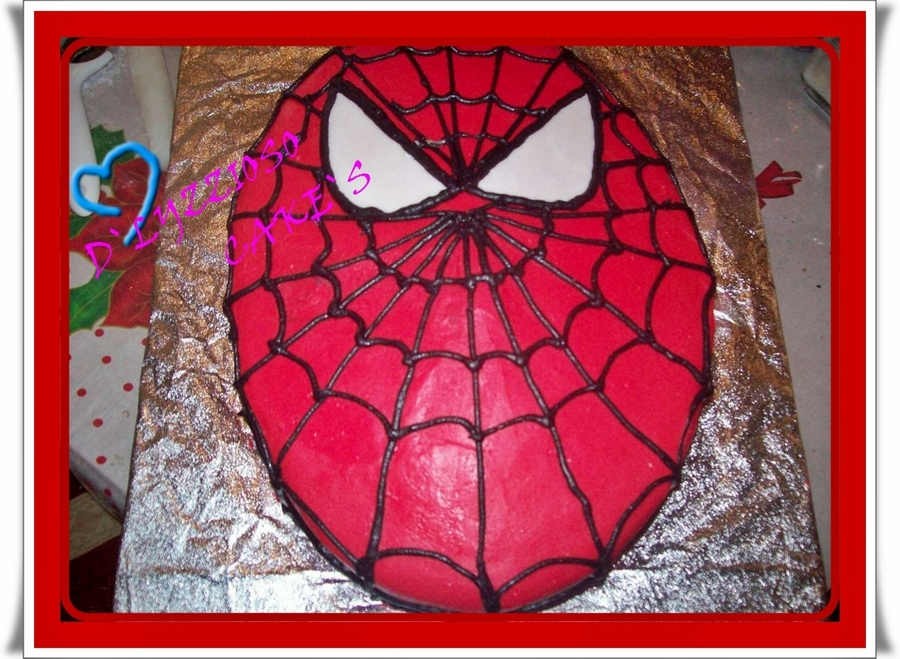 Face Spider Man on Cake Central
