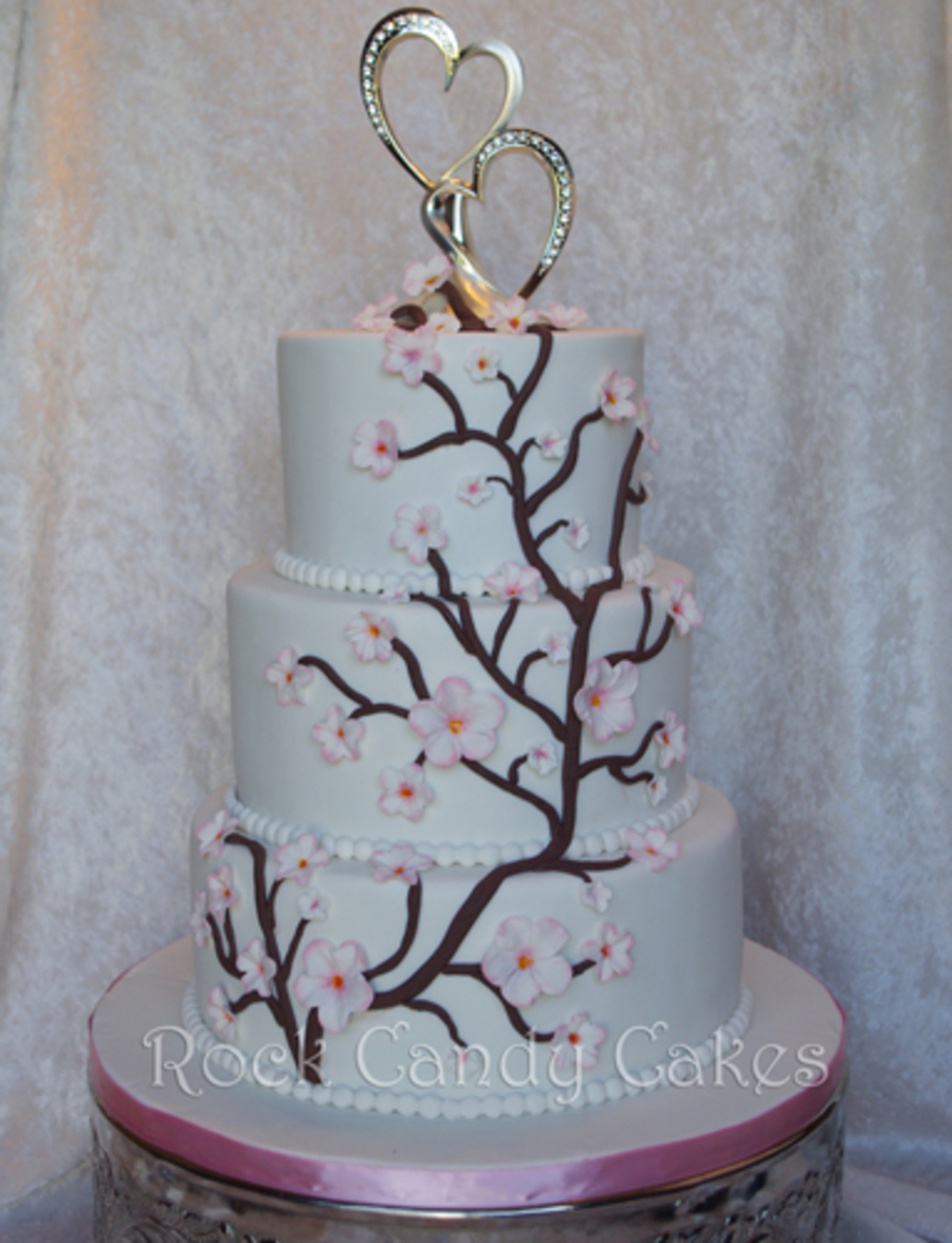 Cherry Blossom Wedding on Cake Central