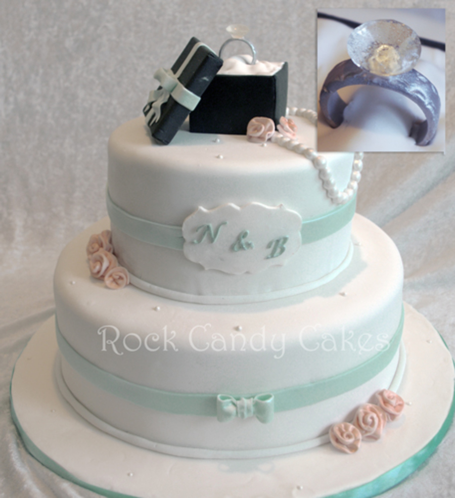Diamond Ring Engagement Cake - CakeCentral.com