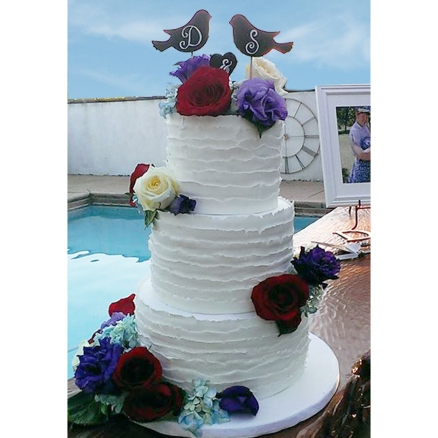 Torn Fondant Wedding Cake on Cake Central