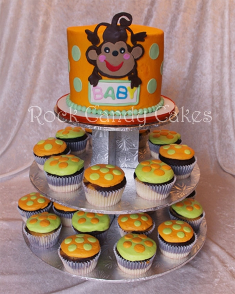 Monkey Baby Shower Cupcake Tower on Cake Central