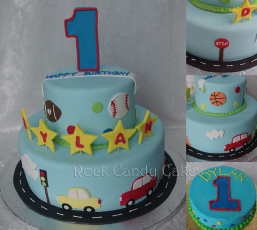 Mix Of Sports And Toy Cars Matching Smash Cake In Butter Cream The Client Sent Me A Photo And Ask Me To Change It Up A Bit on Cake Central