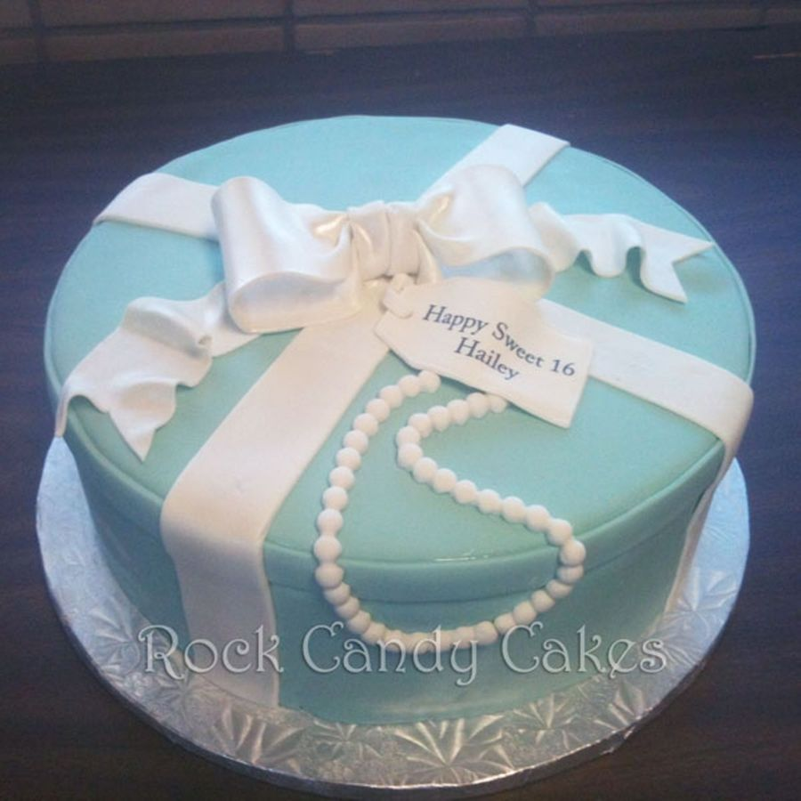 Blue Present Cake W/ Pearls on Cake Central