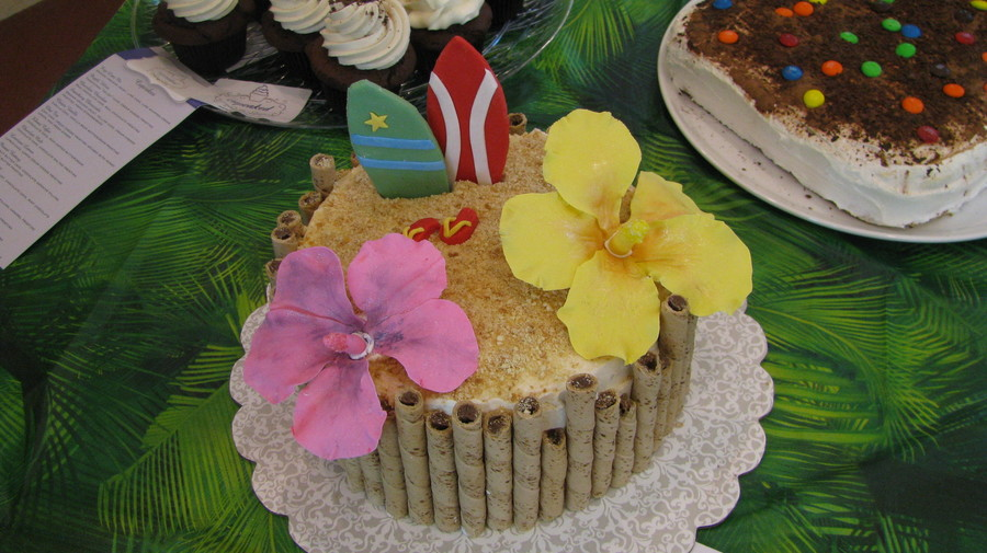 Hawaiian Cake With Hibiscus Flowers on Cake Central