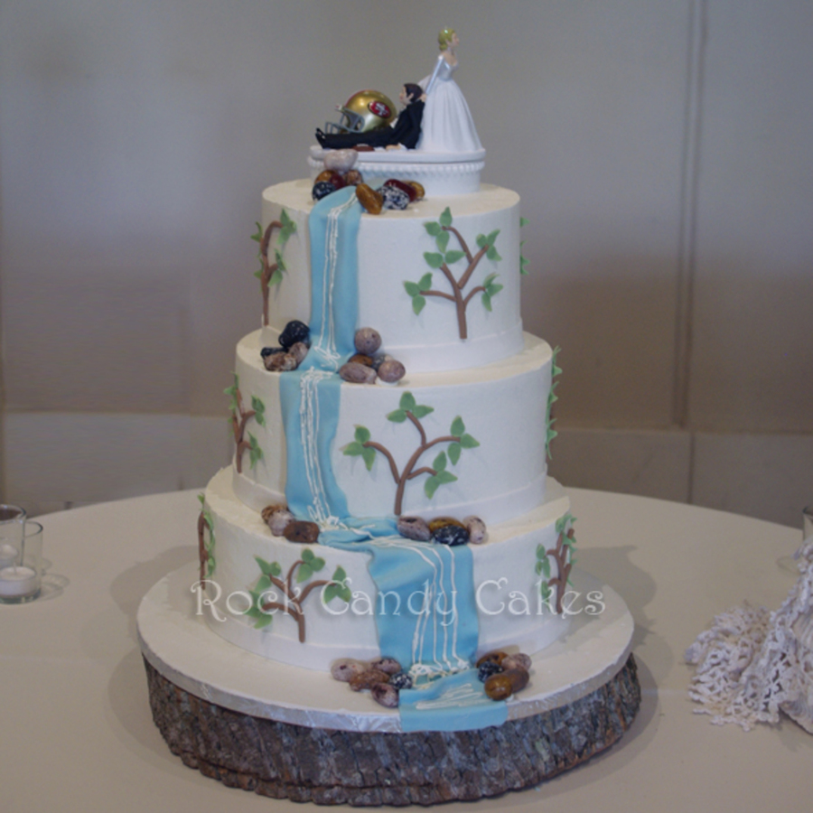 Waterfall Wedding on Cake Central