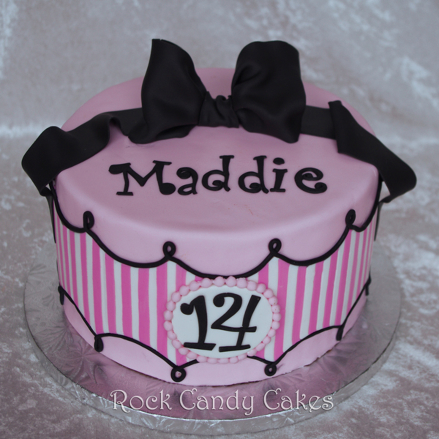 Pink & White Girly Birthday on Cake Central