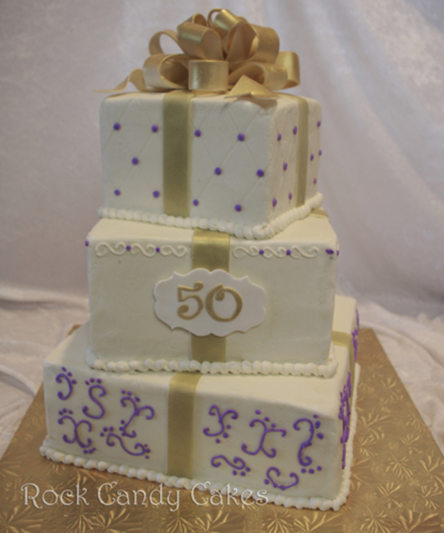 50Th Anniversary Stacked Presents on Cake Central