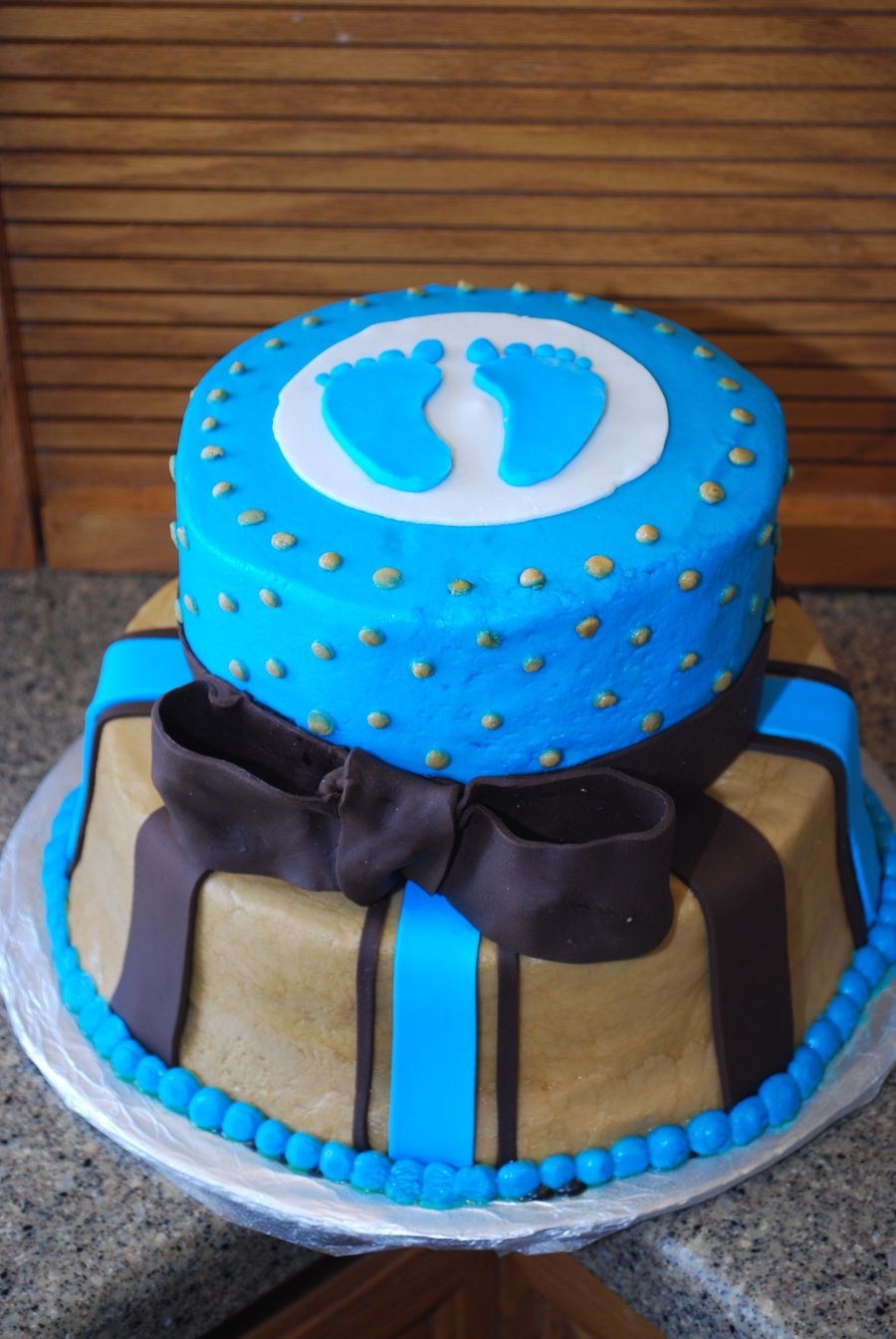 Boy Baby Shower Cake on Cake Central
