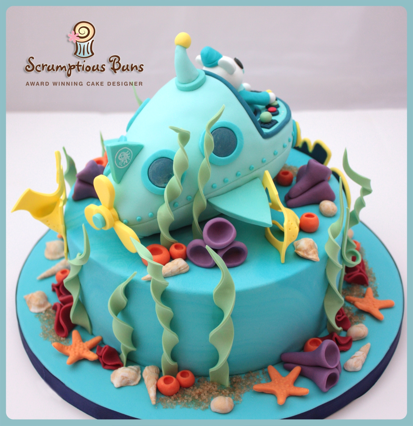 8 Chocolate Fudge Cake With Submarine Topper Birthday Cakes