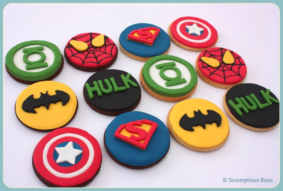 Decoration Gateau Super Hero