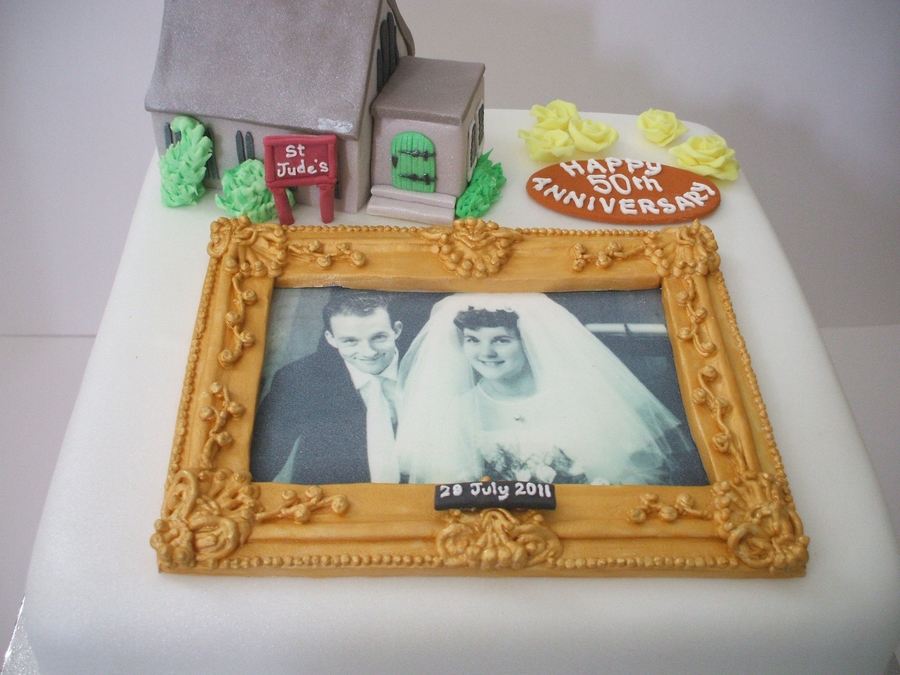 Golden Wedding Anniversary on Cake Central