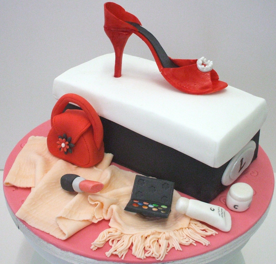 Shoe Box And Accessories on Cake Central