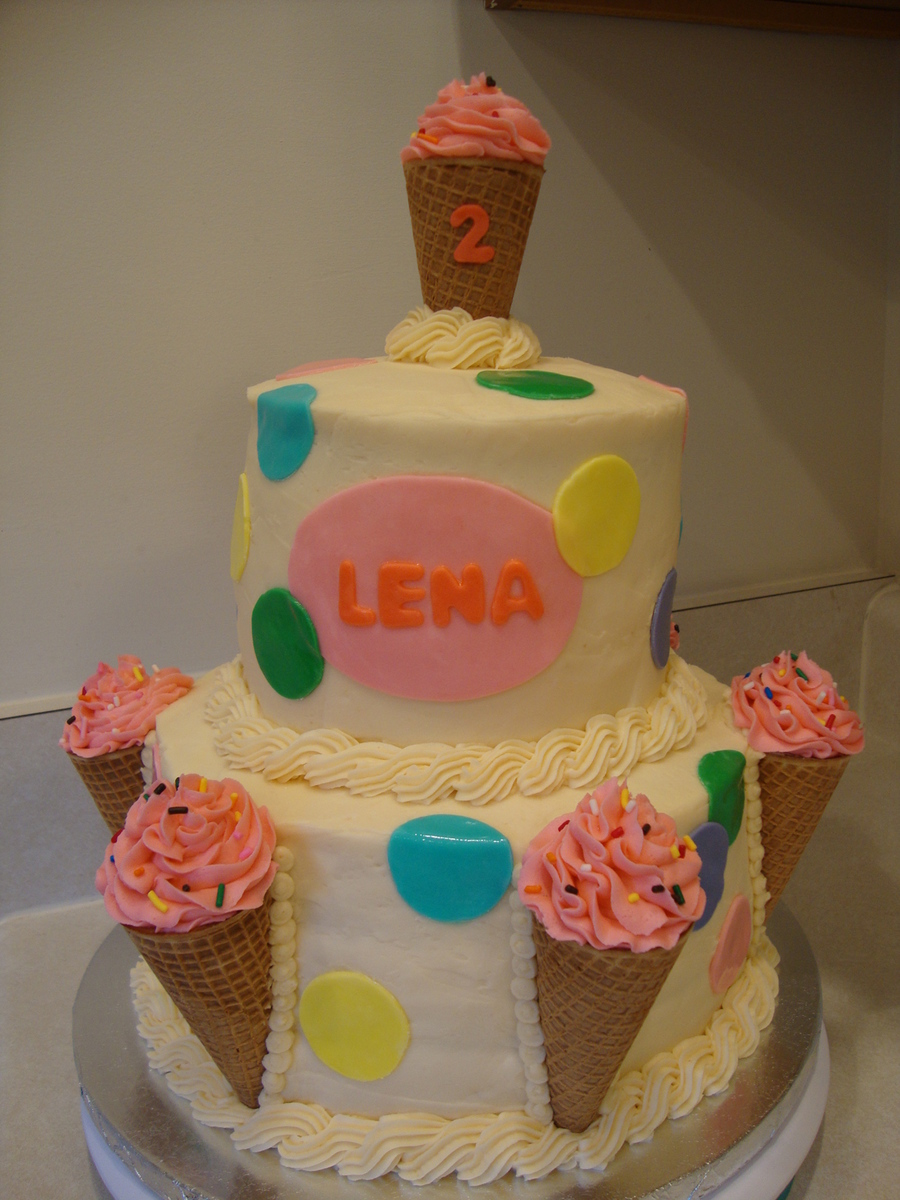 Ice Cream Themed Birthday Party on Cake Central