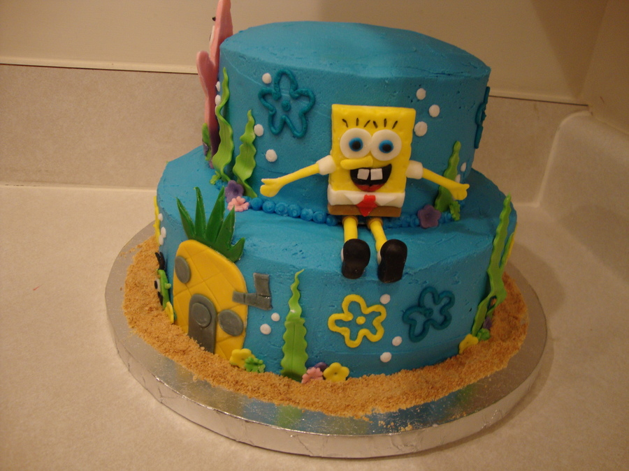Remarkable Spongebob Birthday Cake Cakecentral Com Funny Birthday Cards Online Alyptdamsfinfo