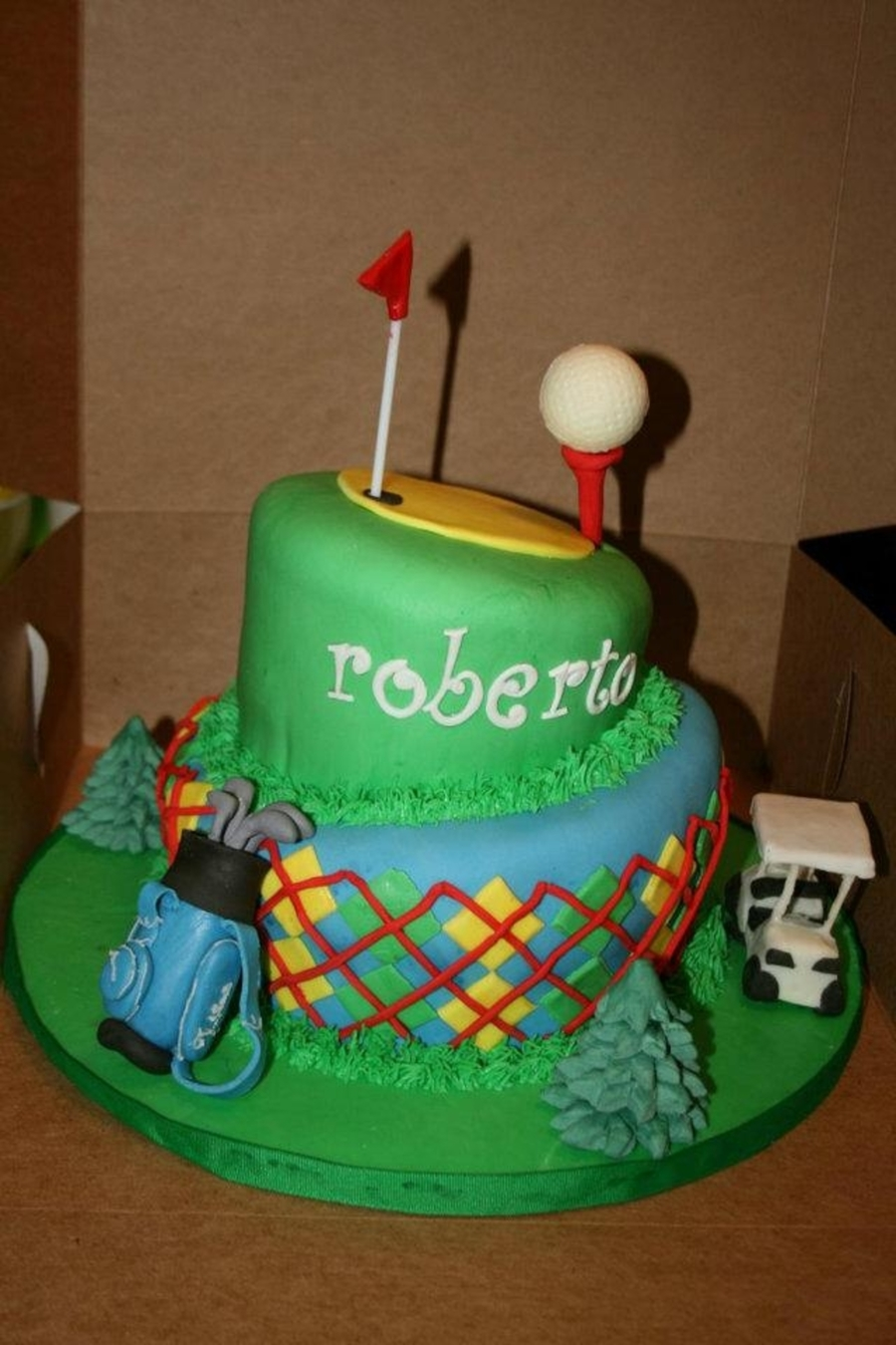 Topsy Turvy Golf on Cake Central