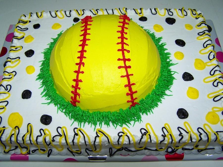 Softball Themed Cakes