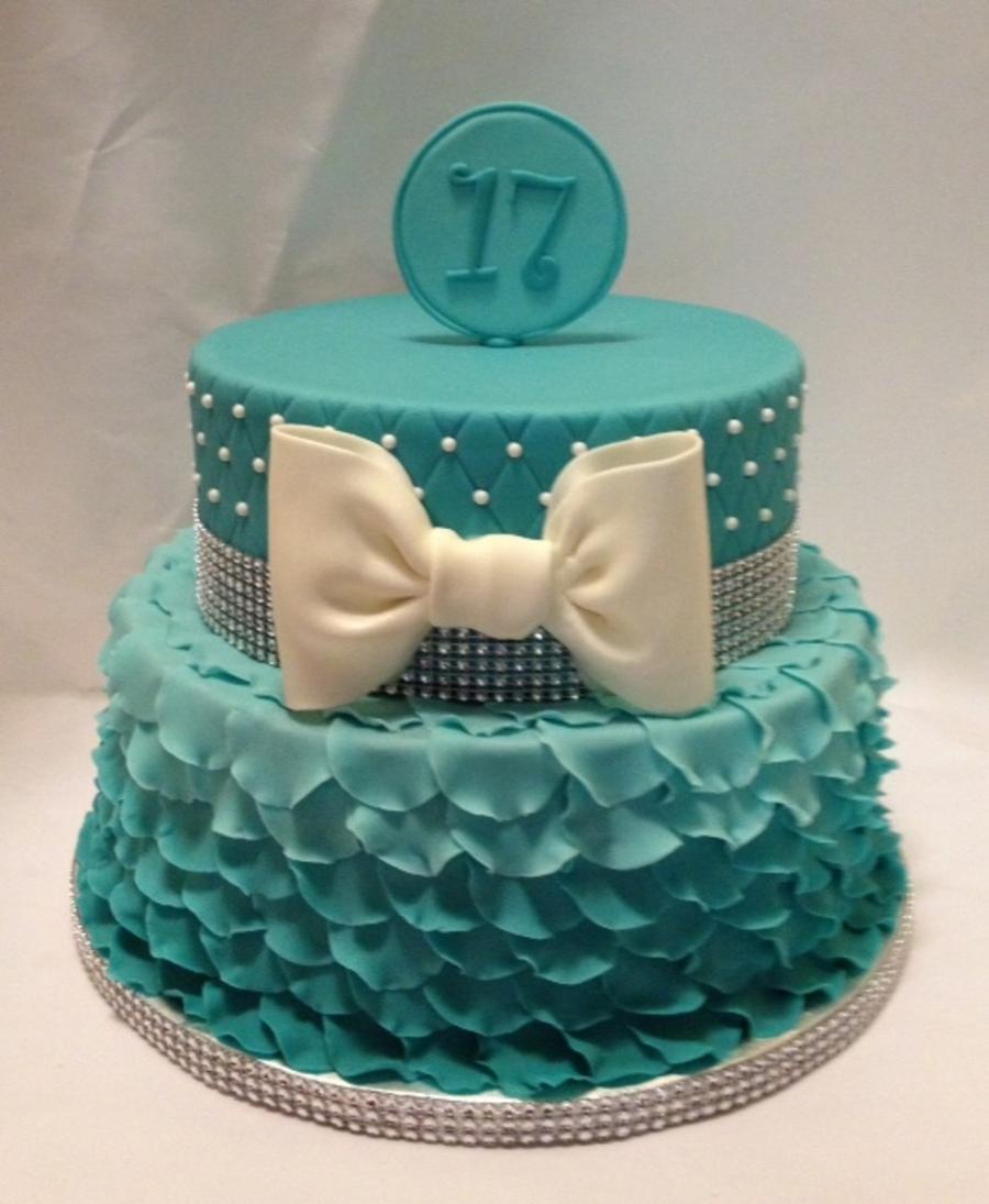 Aqua Ombre Petal Cake Cakecentral Com