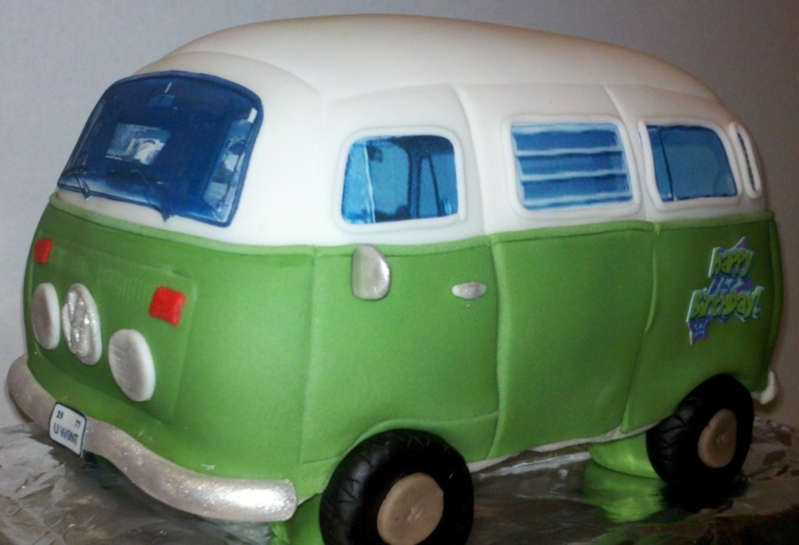 how to make a vw bus cake