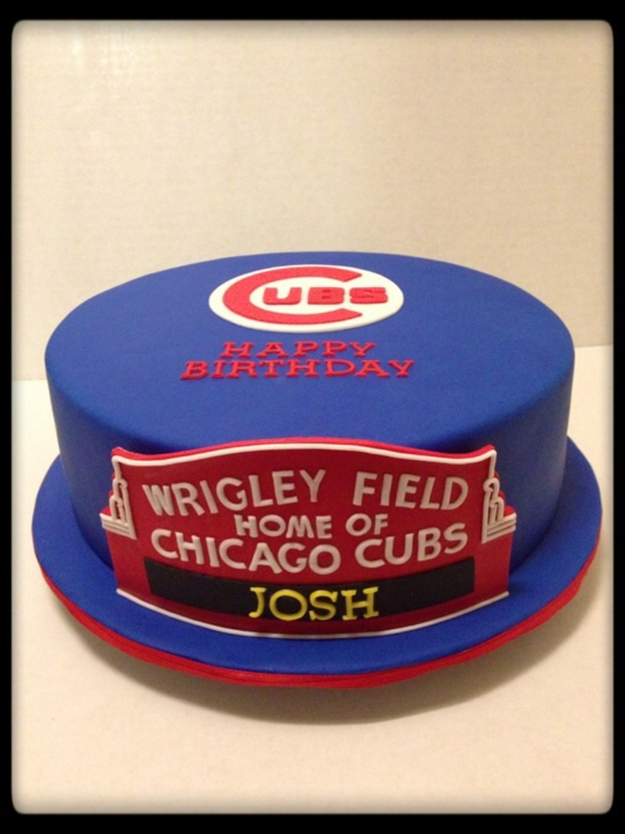 Chicago Cubs Cake Chicago Cubs Birthday Cake Birthday Cakes