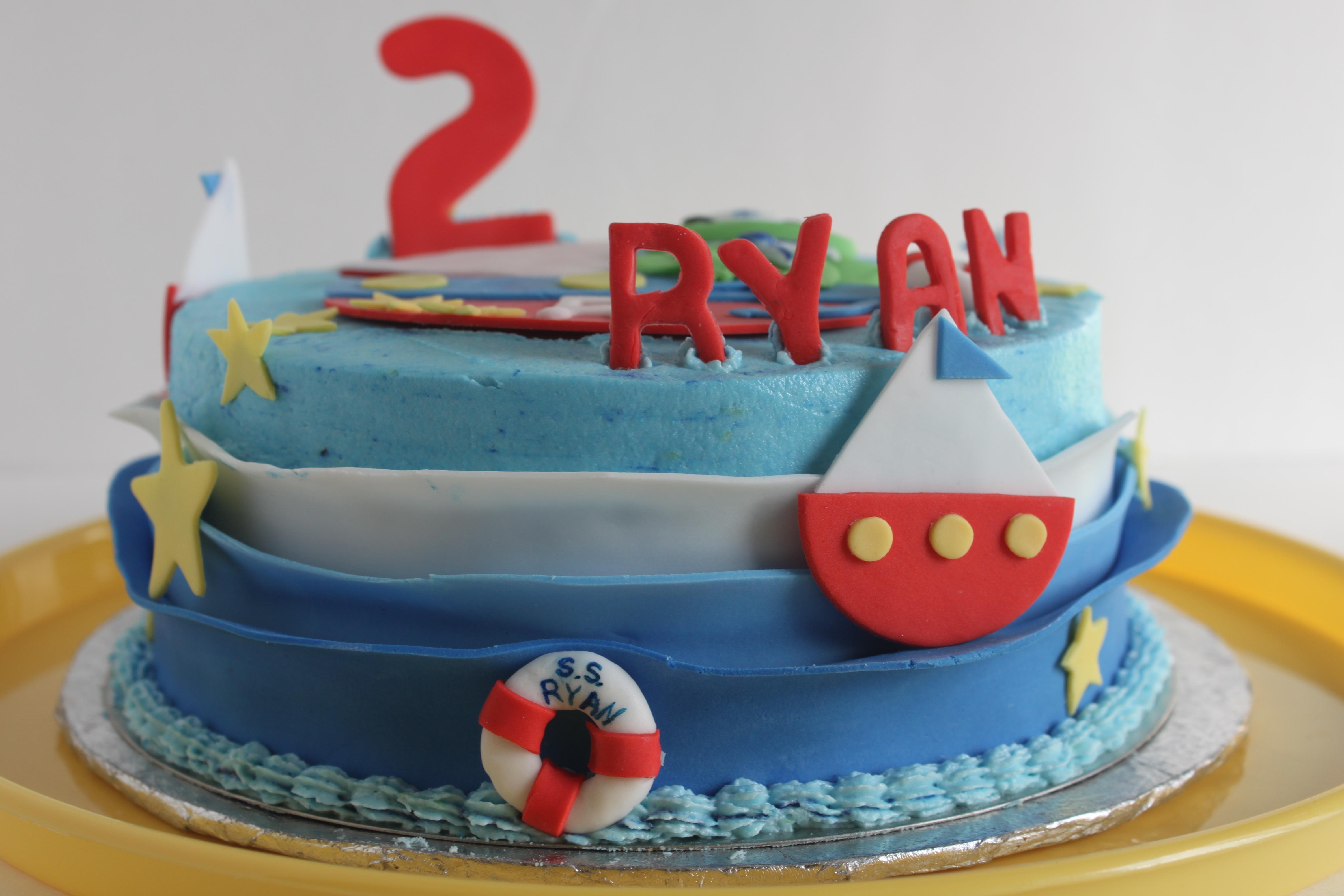 Prime Froggy Sailboat Birthday Cake Cakecentral Com Funny Birthday Cards Online Sheoxdamsfinfo