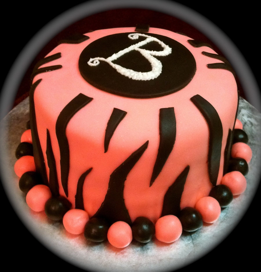 Another Pink Zebra Cake on Cake Central