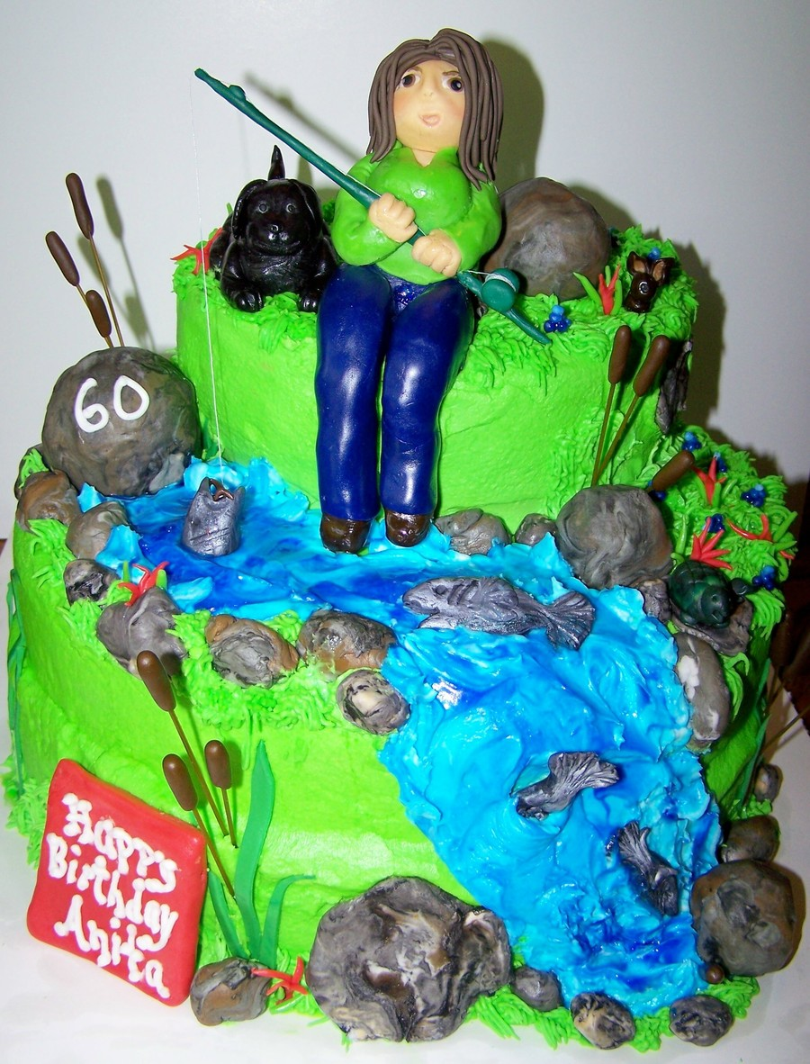 60Th Fishing Birthday CakeCentralcom