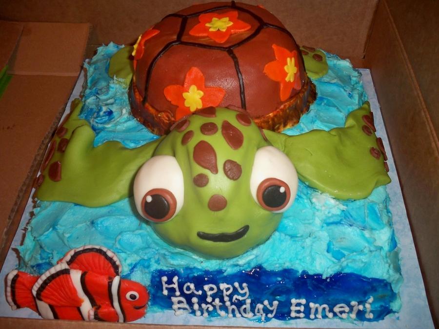 Finding Nemo Squirt Birthday Cake CakeCentralcom - Finding nemo birthday cake