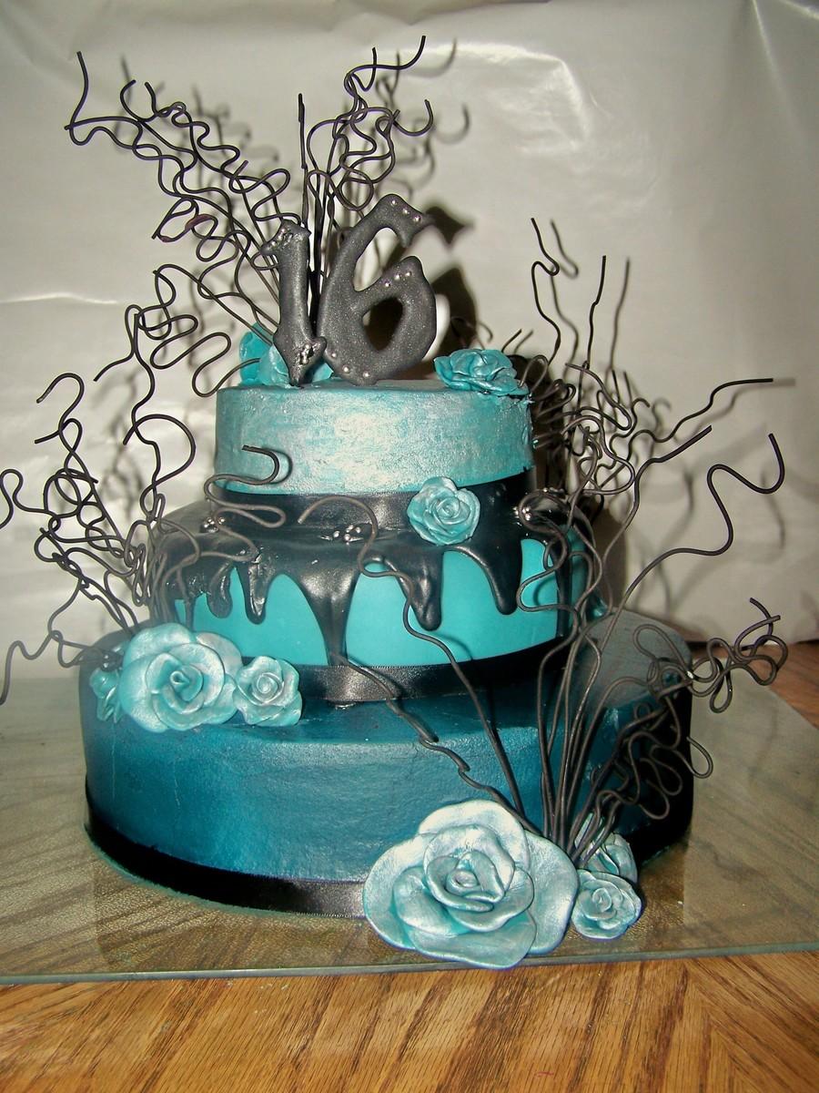 Gothic Elegance Birthday Cake Cakecentral Com