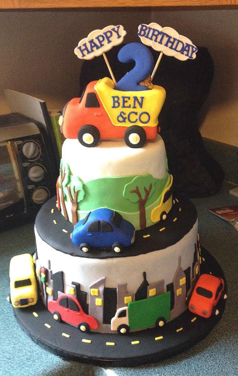 Happy Birthday Luxury Car Cake