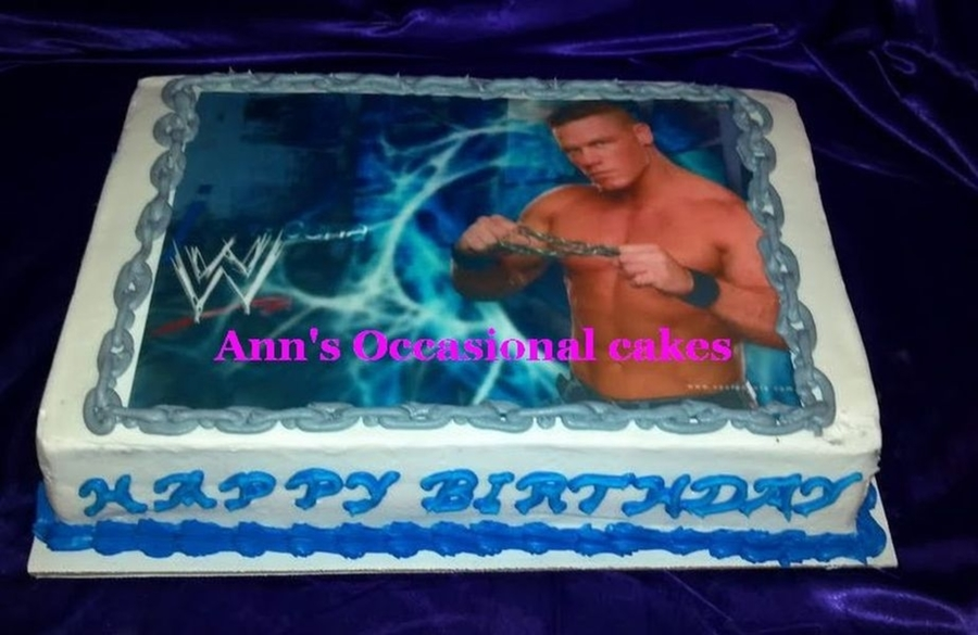 Admirable John Cena Cakecentral Com Personalised Birthday Cards Beptaeletsinfo