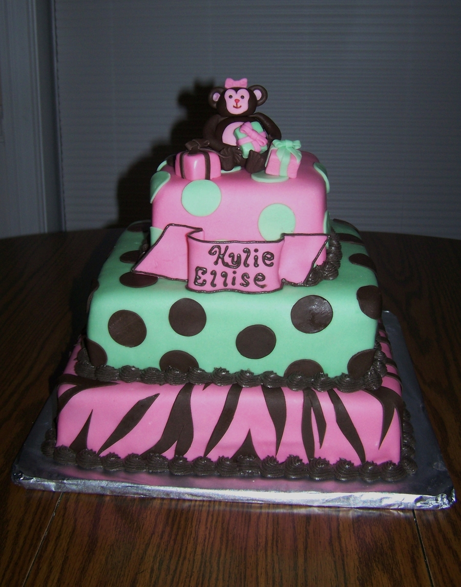 Monkey Themed Baby Shower on Cake Central