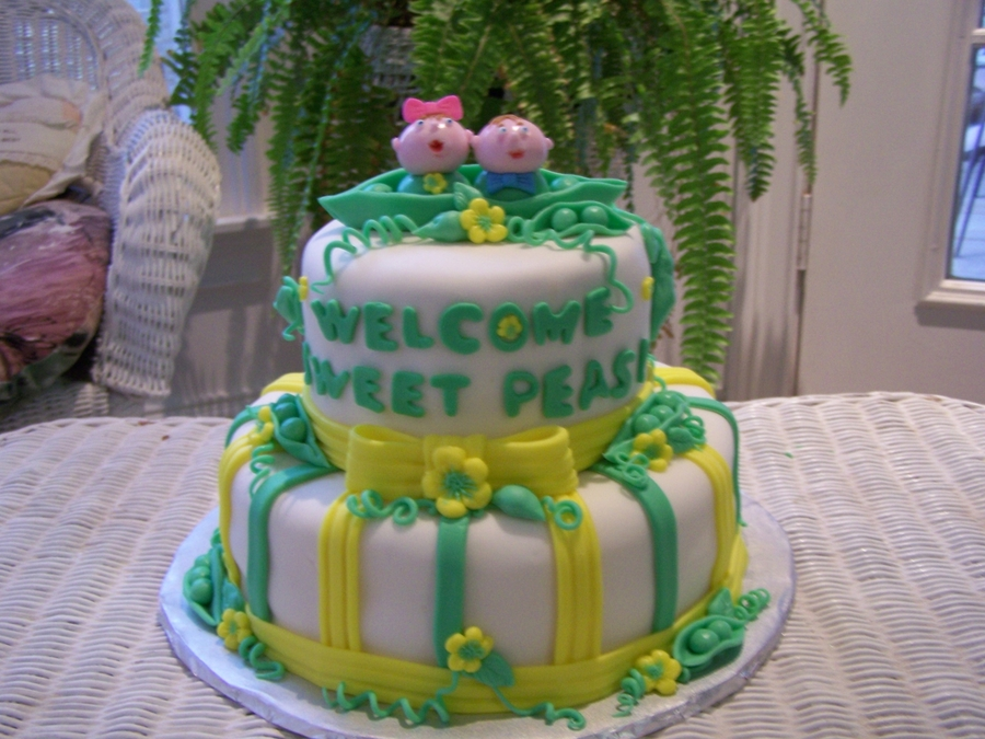 Welcome Sweet Peas on Cake Central
