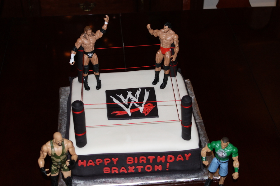 Wrestling Theme on Cake Central