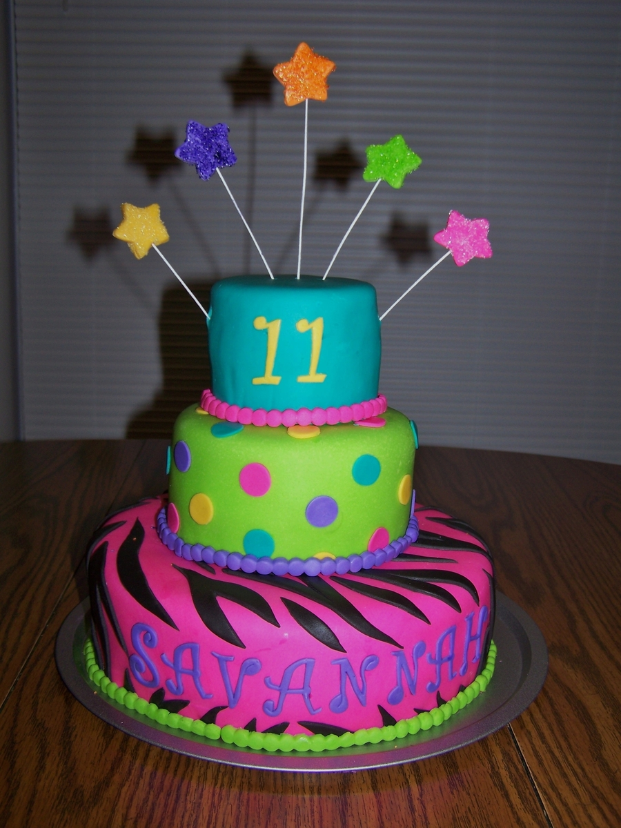Zebra And Polkadots  on Cake Central