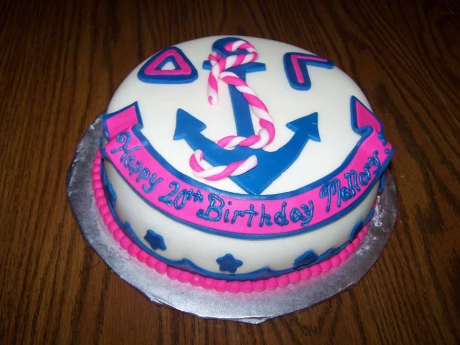 Sorority Birthday Cake  on Cake Central