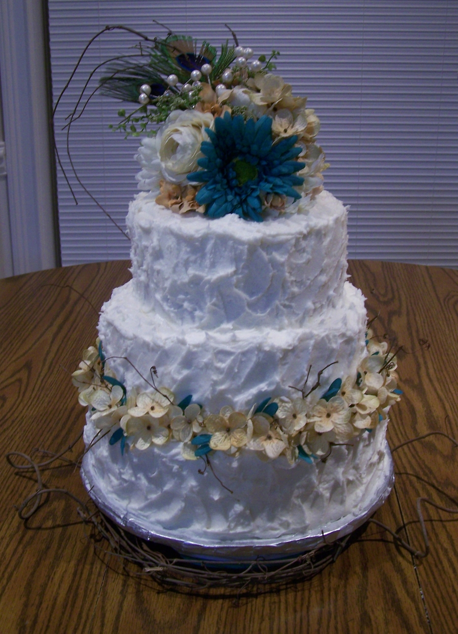 Kandi And Kevins Wedding Cakes 007Jpg on Cake Central