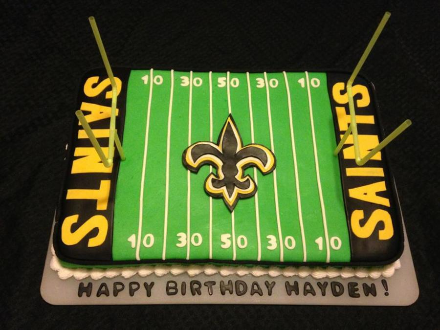 Saint's Fan Football Cake on Cake Central