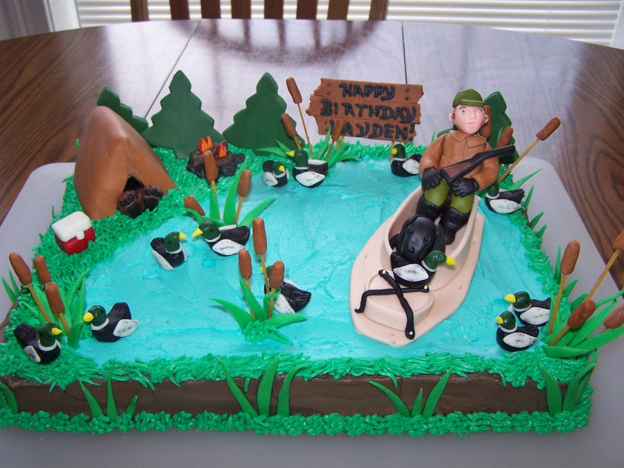 Duck Hunter Birthday Cake on Cake Central