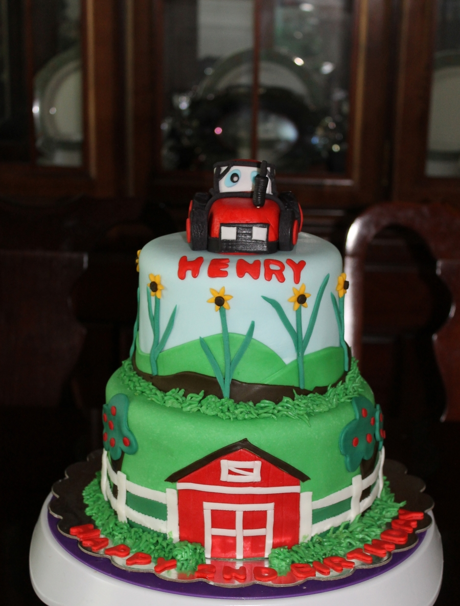 Tractor Theme Birthday on Cake Central
