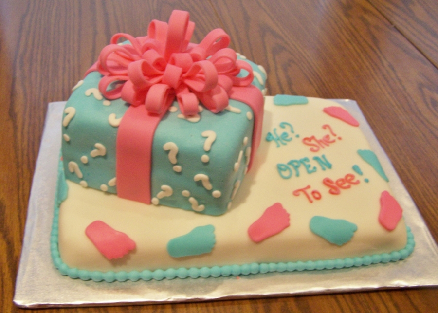 Gender Reveal Baby Shower Cake on Cake Central