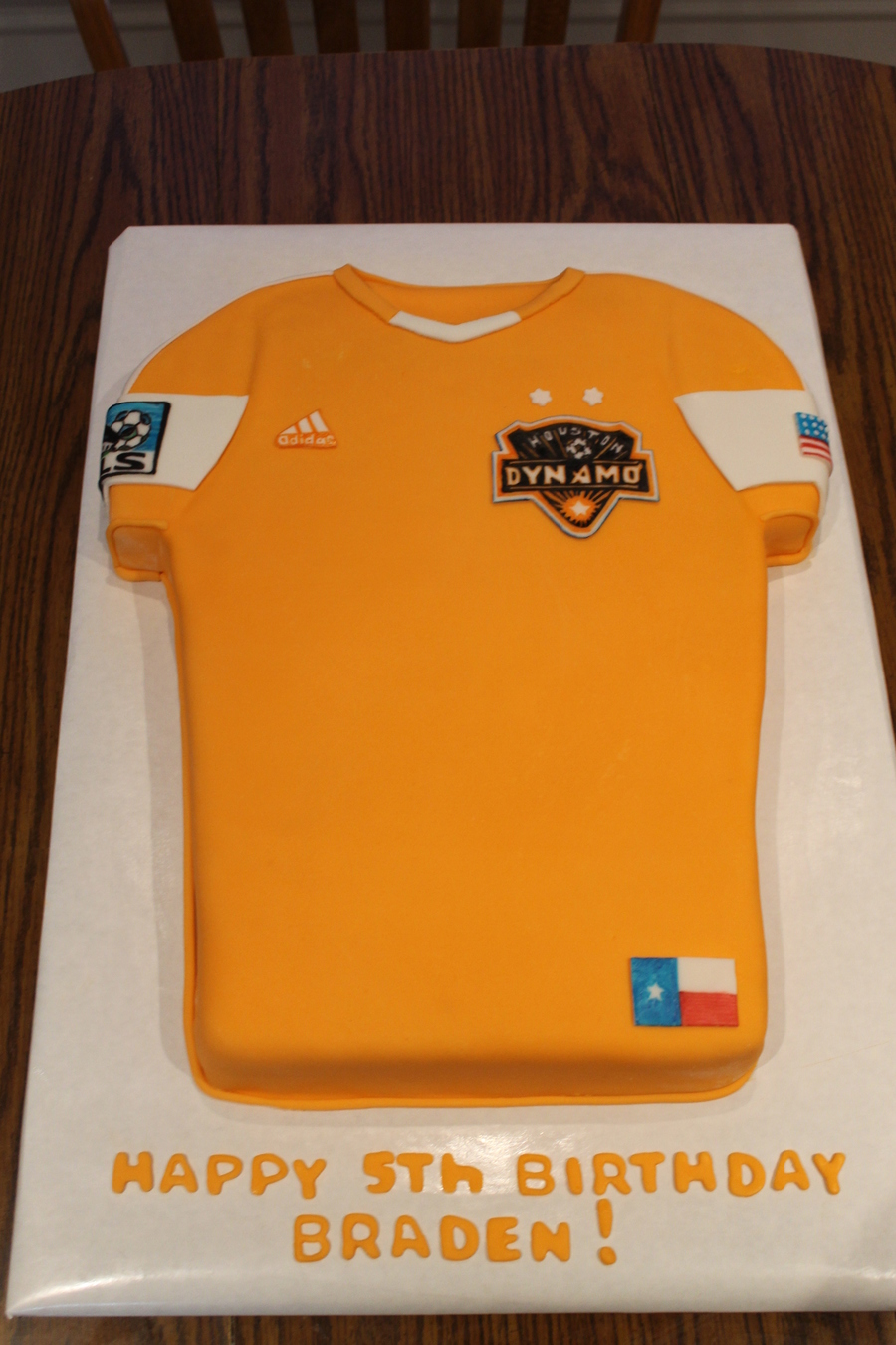 Houston Dynamo Jersey on Cake Central