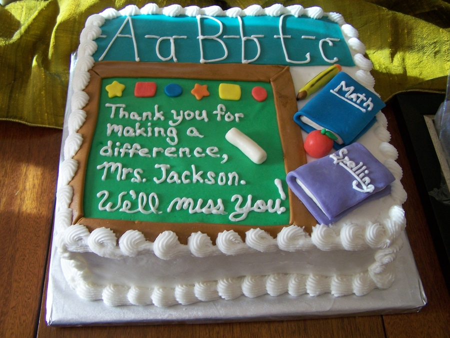 Teacher Retirement - CakeCentral.com