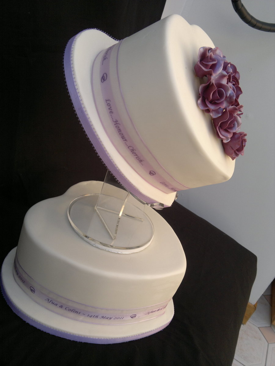 two tier heart shaped wedding cake 2 tier shaped wedding cake cakecentral 21343