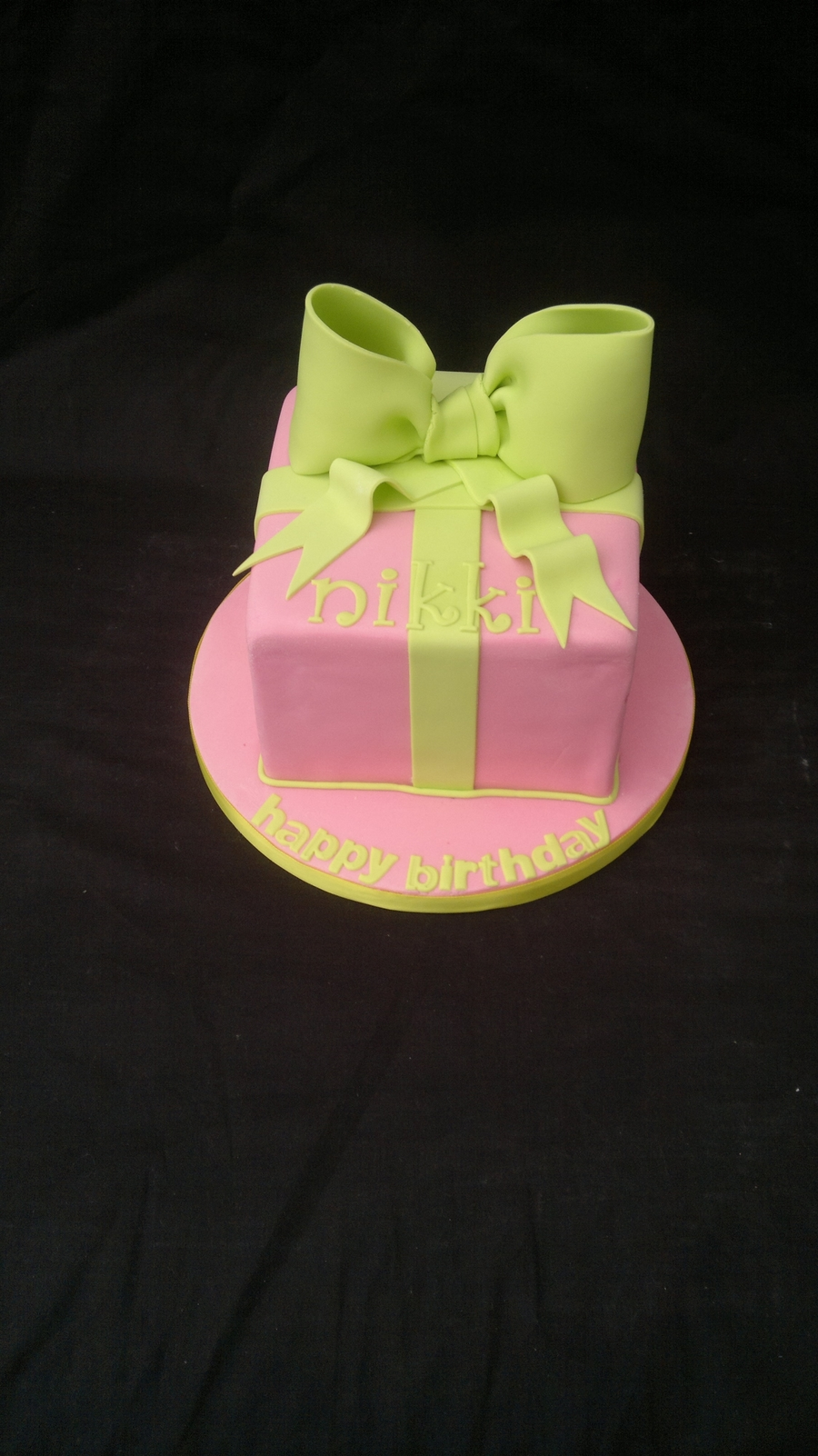 Bow Birthday Cake on Cake Central