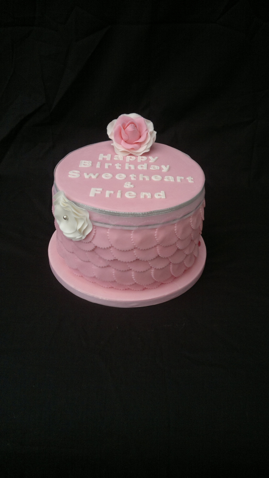 Pink Frill Skirt Cake on Cake Central