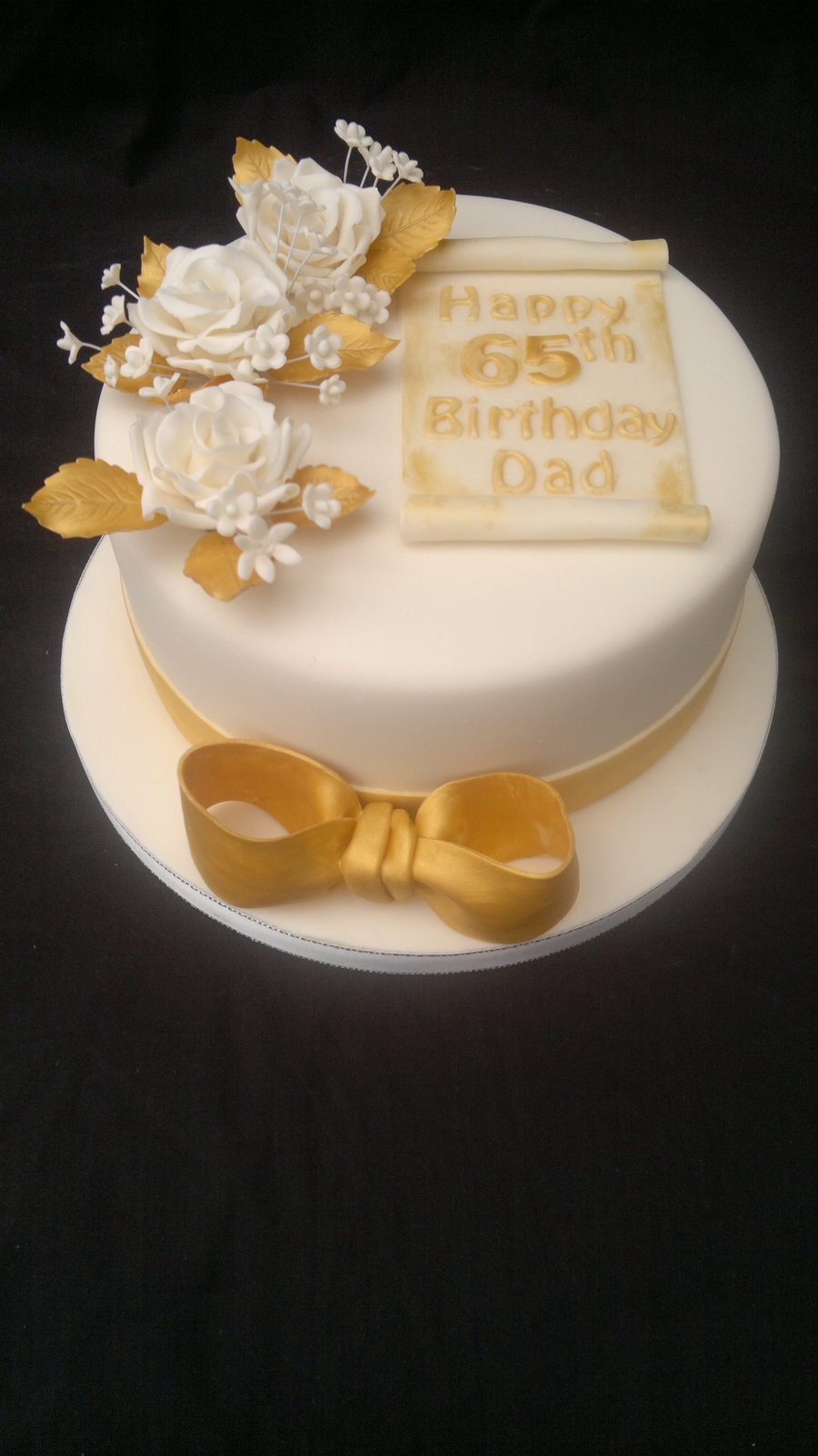 65Th Birthday Cake on Cake Central