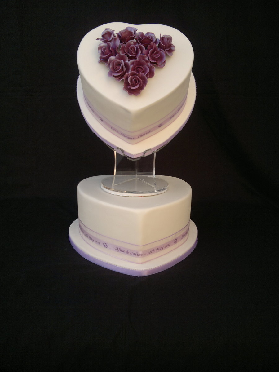 2 tier heart shaped wedding cakes 2 tier shaped wedding cake cakecentral 10132