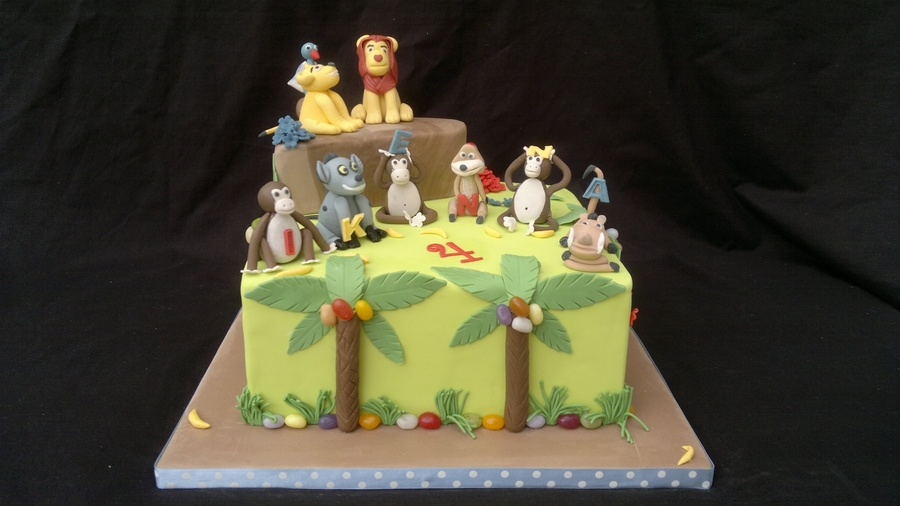 Lion King/jungle Cake  on Cake Central