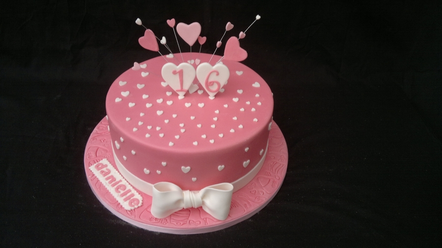 Heart Birthday Cake on Cake Central