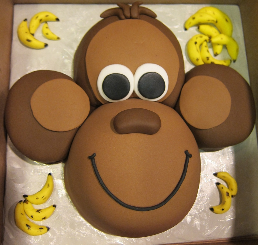 Monkey face cake for Monkey face template for cake